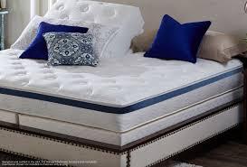 mattress and blue pillow